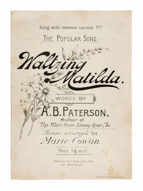 Waltzing Matilda song book